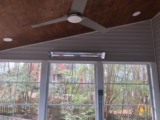 Ceiling fan in Screened Porch